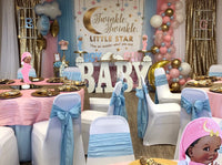 Twinkle Twinkle Little Star Backdrop Personalized Step & Repeat - Designed, Printed & Shipped!