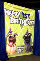 Puppy Dog Pals Party Backdrop Personalized Step & Repeat - Designed, Printed & Shipped!