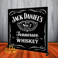 Jack Daniels Whiskey theme  Step and Repeat Backdrop - Designed, Printed & Shipped!