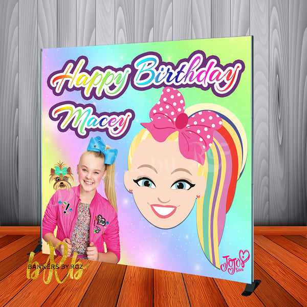 JoJo Swia Backdrop for Birthday Party or any event. Designed, Printed & Shipped!
