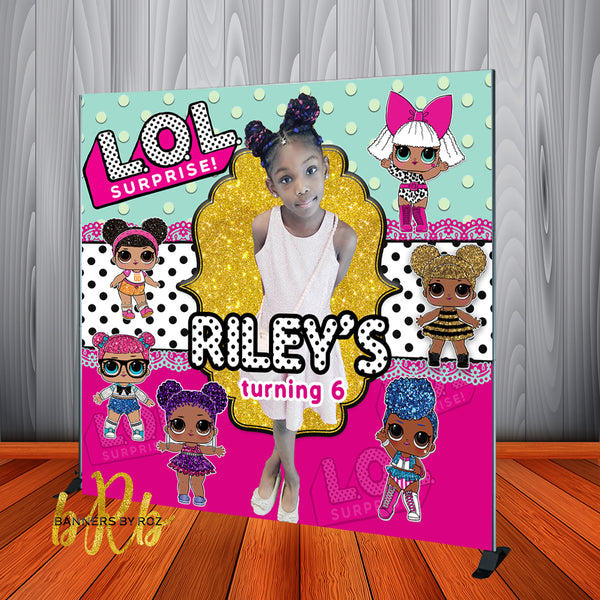 LOL Surprise Birthday Backdrop Photo - Personalized - Designed, Printed & Shipped!