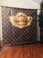 Louis Vuitton inspired Backdrop - Step & Repeat - Designed, Printed & Shipped!