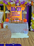 Oh Baby! Baby Shower Backdrop Personalized Step & Repeat - Designed, Printed & Shipped!