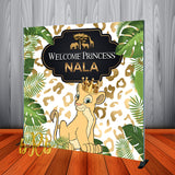 Lion King Nala - Safari Backdrop for 1st Birthday or Baby Shower Personalized - Printed & Shipped!