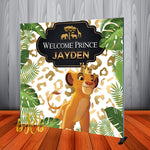 Lion King Safari Backdrop for Baby Shower, Birthday Party Personalized - Printed & Shipped!