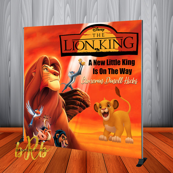 The Lion King Birthday Party Backdrop Personalized Step & Repeat - Designed, Printed & Shipped!