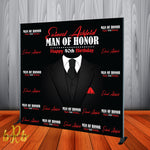 Man of Honor Backdrop - Step & Repeat - Designed, Printed & Shipped!