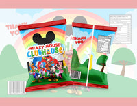 Mickey Mouse Clubhouse  Chip Bag - Digital File