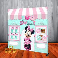 Minnie Mouse Two Sweet Birthday Backdrop Personalized Step & Repeat - Designed, Printed & Shipped!