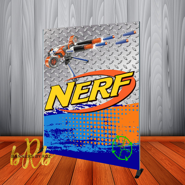 Nerf Birthday Backdrop Personalized Step & Repeat - Designed, Printed & Shipped!