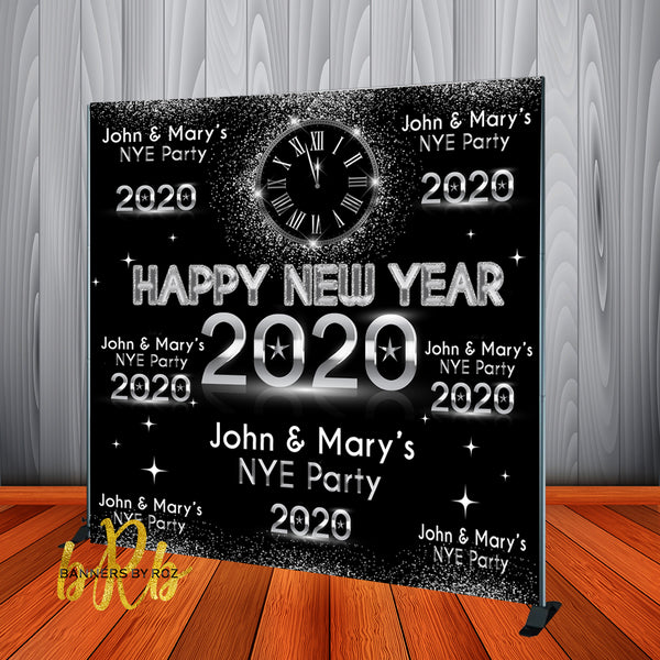 New Year's Eve Party 2020 Backdrop Personalized Step & Repeat - Designed, Printed & Shipped!
