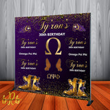 Omega Psi Phi Step and Repeat Backdrop - Designed, Printed & Shipped!
