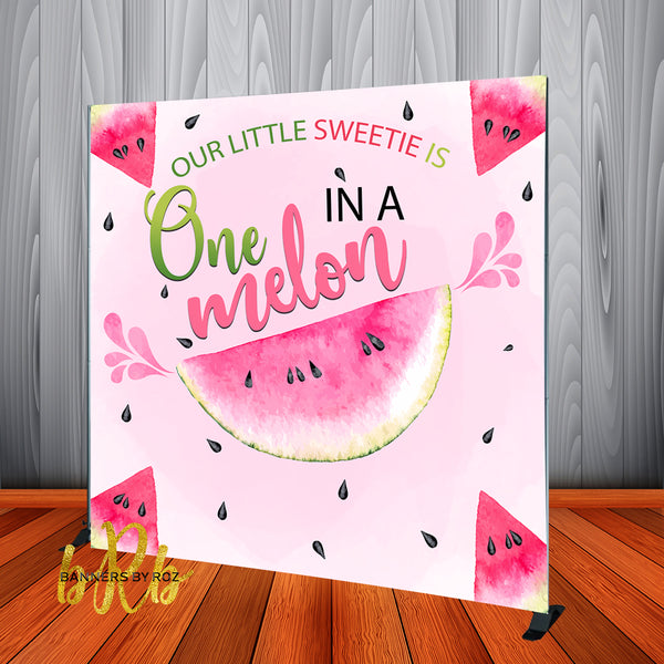 One in a Melon 1st Birthday Party  Backdrop Personalized, Printed & Shipped!