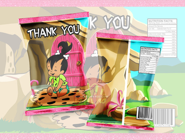 Pebbles - Flintstones Chip Bag - Digital File