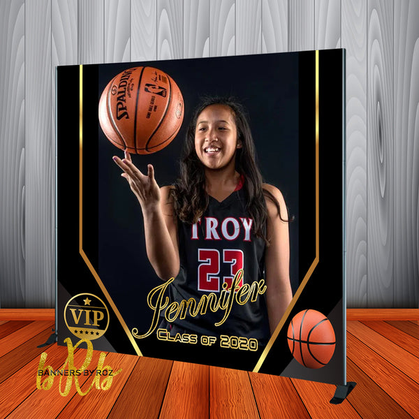 Sports Photo Backdrop Personalized - Step & Repeat - Designed, Printed & Shipped!