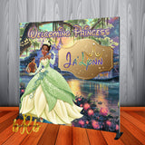 Princess Tiana Backdrop Personalized Step & Repeat - Designed, Printed & Shipped!