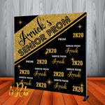 Prom Backdrop - Personalized - Step & Repeat - Designed, Printed & Shipped!