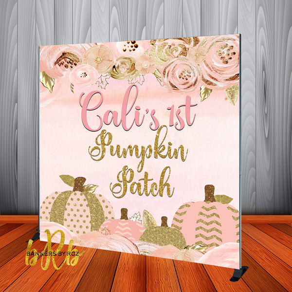 Pumpkin Patch Halloween Party Backdrop Personalized - Designed, Printed & Shipped!