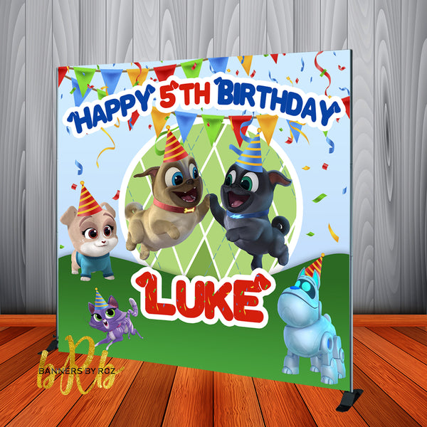 Puppy Dog Pals Party Birthday Backdrop Personalized Step & Repeat - Designed, Printed & Shipped!