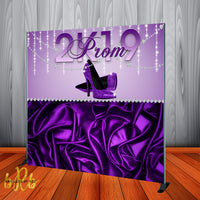Prom Purple Bling backdrop - Step & Repeat - Designed, Printed & Shipped!
