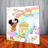 Princess Unicorn Party Backdrop Personalized Step & Repeat - Designed, Printed & Shipped!