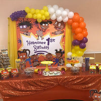 Rugrats African American Gucci Birthday Backdrop Personalized - Designed, Printed & Shipped!