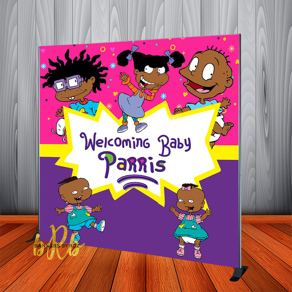 Rugrats African American Birthday Backdrop Personalized - Designed, Printed & Shipped!
