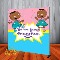 Rugrats Phil and Lil Backdrop Personalized - Designed, Printed & Shipped!