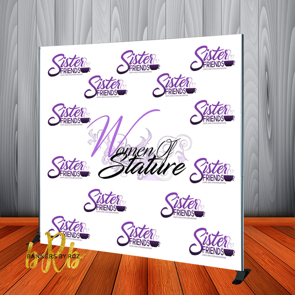 YOUR Logo -  Step and Repeat Backdrop - Designed, Printed & Shipped!