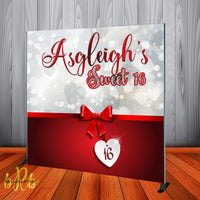 Sweet 16 Valentine Backdrop- Step & Repeat - Designed, Printed & Shipped!
