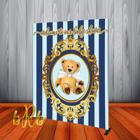 Teddy Bear Backdrop Personalized Step & Repeat - Designed, Printed & Shipped!