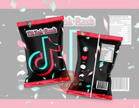 Tik Tok Bash Chip Bag - Digital File