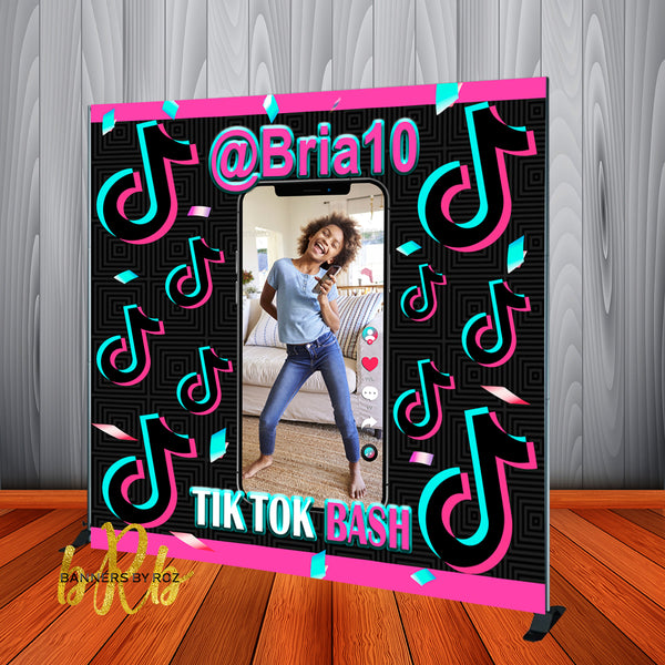 Tik Tok Photo iPhone Backdrop Personalized, Printed & Shipped!