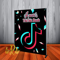 Tik Tok Backdrop Personalized Step & Repeat - Designed, Printed & Shipped!