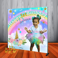 Unicorn Princess Birthday Backdrop Personalized Step & Repeat - Designed, Printed & Shipped!