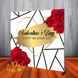 Valentine's Day Event Roses & Gold Backdrop- Step & Repeat - Designed, Printed & Shipped!