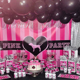 Victoria Secrets Pink Inspired Backdrop Personalized- Designed, Printed & Shipped!