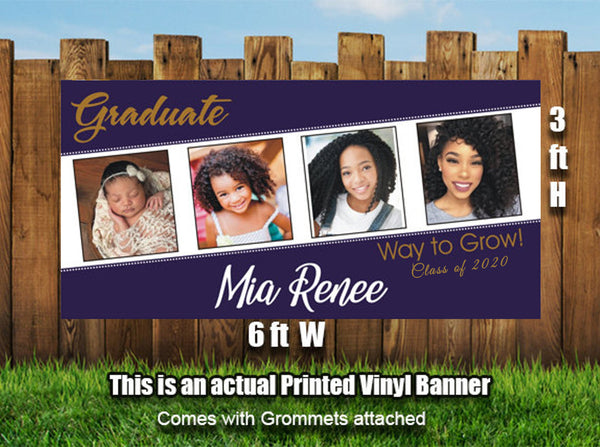 Personalized Graduation Photos Banner Heavyweight Vinyl - Designed, Printed & Shipped!
