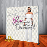 White Diamonds Backdrop - Step & Repeat - Designed, Printed & Shipped!