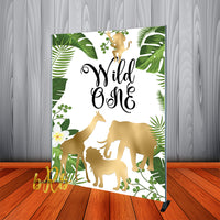 Wild One Birthday Party Backdrop Personalized Step & Repeat - Designed, Printed & Shipped!