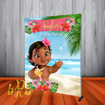 Baby Moana Birthday Backdrop Personalized Step & Repeat - Designed, Printed & Shipped!