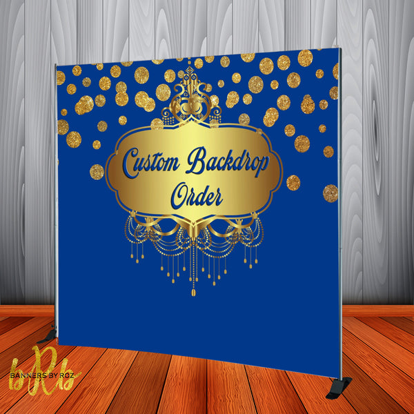 Custom Designed Vinyl Backdrop - Step & Repeat - Designed, Printed & Shipped!