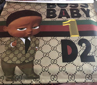 Boss Baby Gucci Boy Backdrop Africa American Personalized Printed & Shipped!