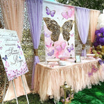 Butterfly Baby Shower Backdrop - Step & Repeat - Designed, Printed & Shipped!