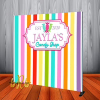Candy Shop Baby Shower or Birthday Backdrop Personalized, Printed & Shipped!