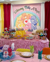 Care Bears Pink Backdrop Personalized for Birthdays or Baby Shower - Designed, Printed & Shipped!