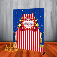 Circus or Carnival Party Backdrop Personalized Step & Repeat - Designed, Printed & Shipped!