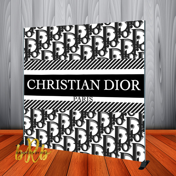 Christian Dior Inspired Backdrop - Step & Repeat - Designed, Printed & Shipped!