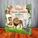 Coming to America Safari Backdrop for Baby Shower or Birthday - Printed & Shipped!