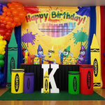 Crayola Crayons & Paint Party Backdrop Personalized Step & Repeat - Designed, Printed & Shipped!